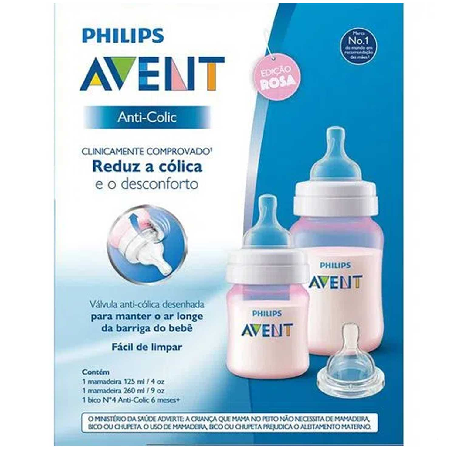 KIT MAMADEIRA ANTI-COLIC AVENT REF:SCD809/36 125ML E 260ML