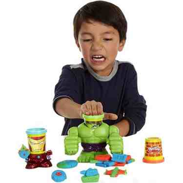 KIT POTES DE MASSINHAS PLAY-DOH HULK HASBRO REF:0308