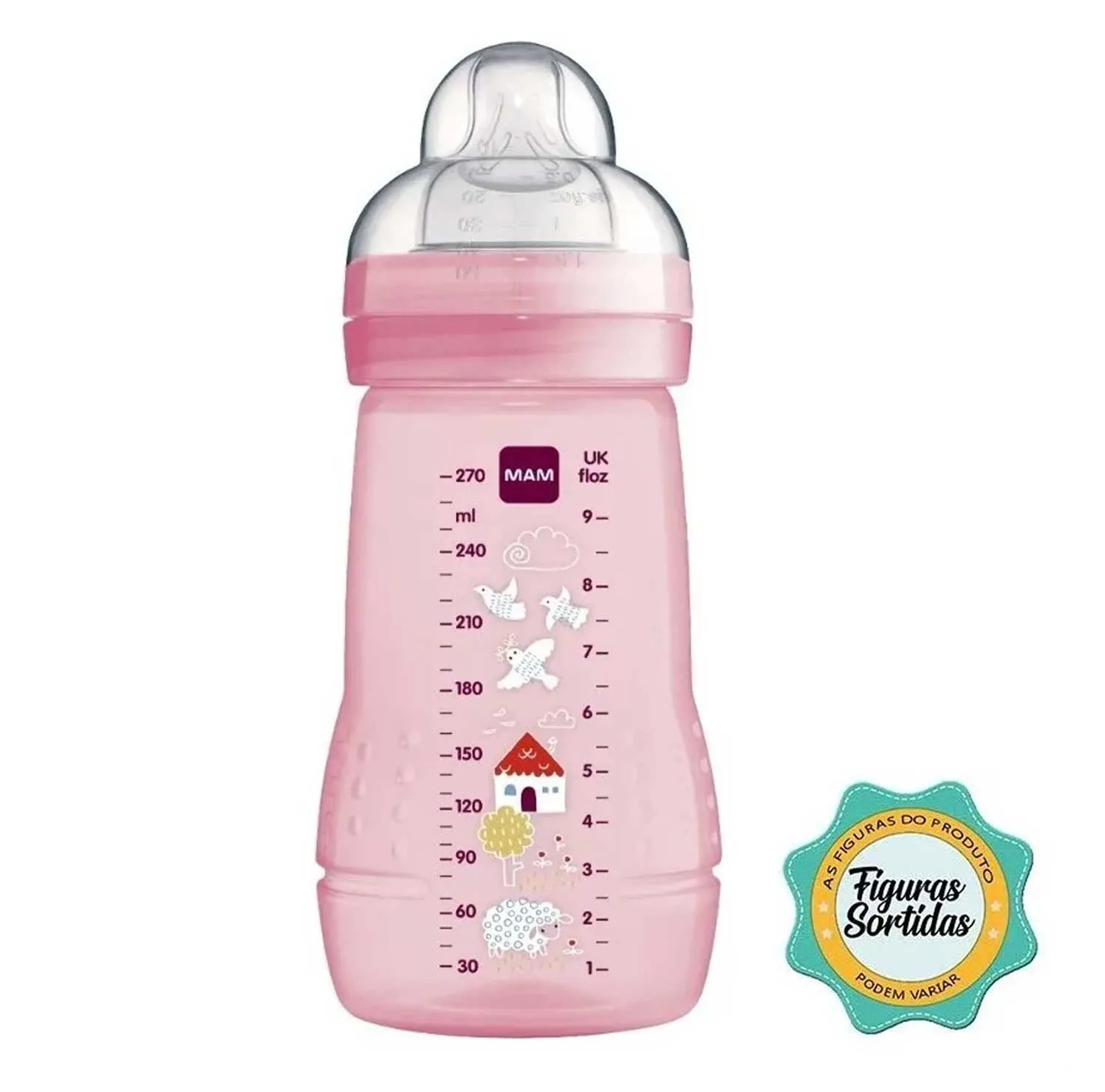 MAMADEIRA FASHION BOTTLE MAM ESTAMPAS SORTIDAS REF:4838 270ML