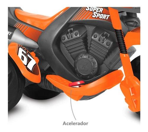 MOTO ELÉTRICA 6 VOLTS SUPERSPORT BANDEIRANTE REF:2594