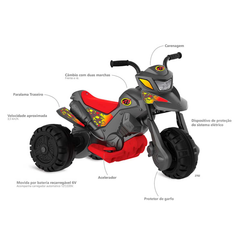 MOTO XT3 GRAFITE BANDEIRANTE REF:2702