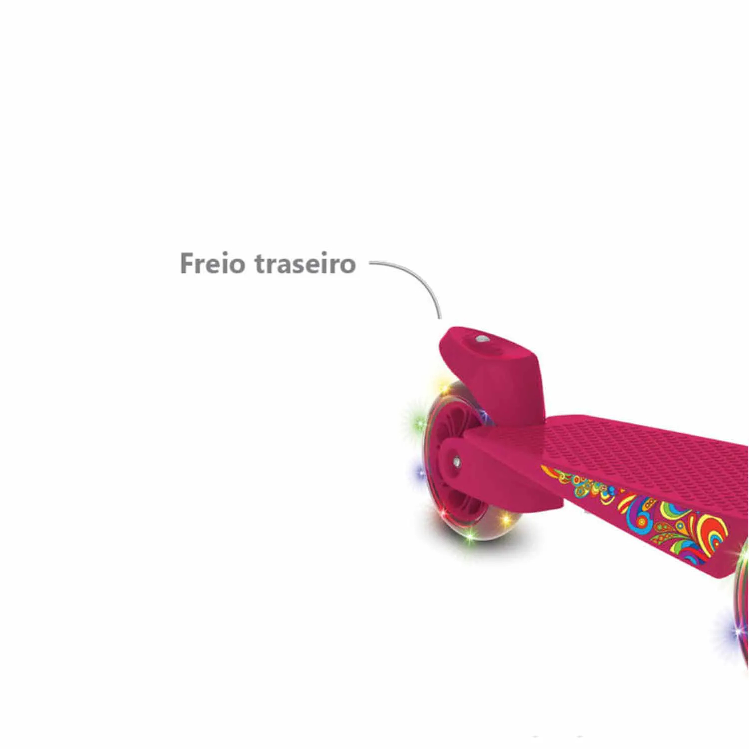 PATINETE SKATENET MAX PINK LED BANDEIRANTE +24 MESES REF:1521