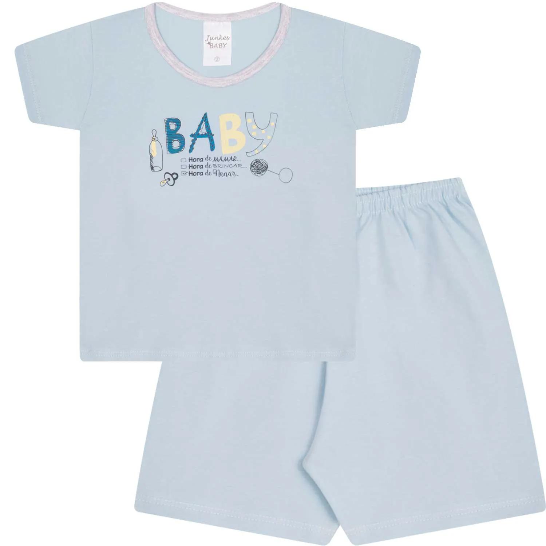 PIJAMA MANGA CURTA ALGODÃO ESTAMPADO JUNKES BABY REF:61113 1/3
