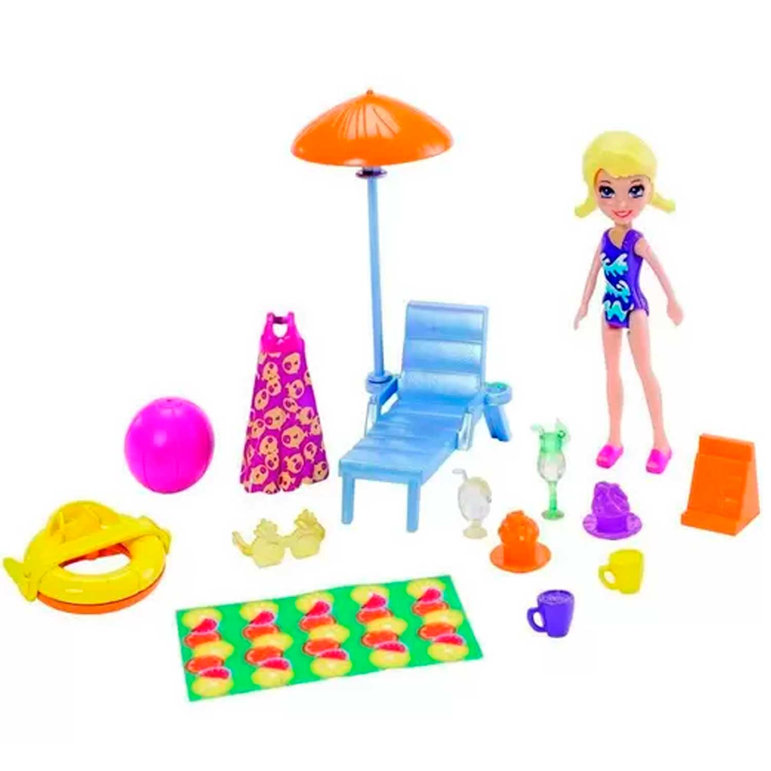 POLLY POCKET MEGA TRAILER MATTEL REF:FRY86