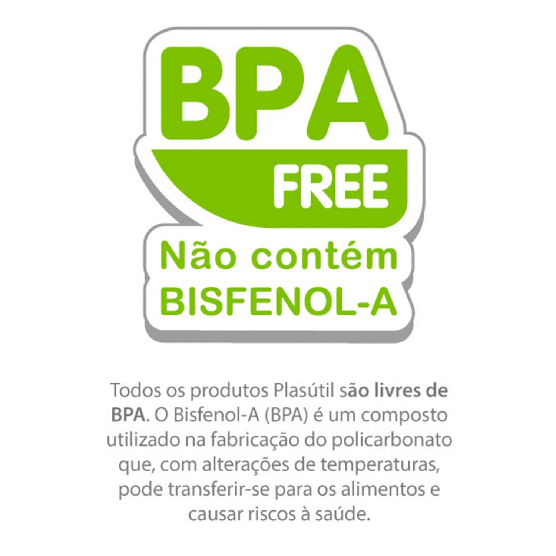 PRATO PARA BEBÊ PLASUTIL TÉRMICO COM DUAS COLHERES REF: 7079 BPA FREE