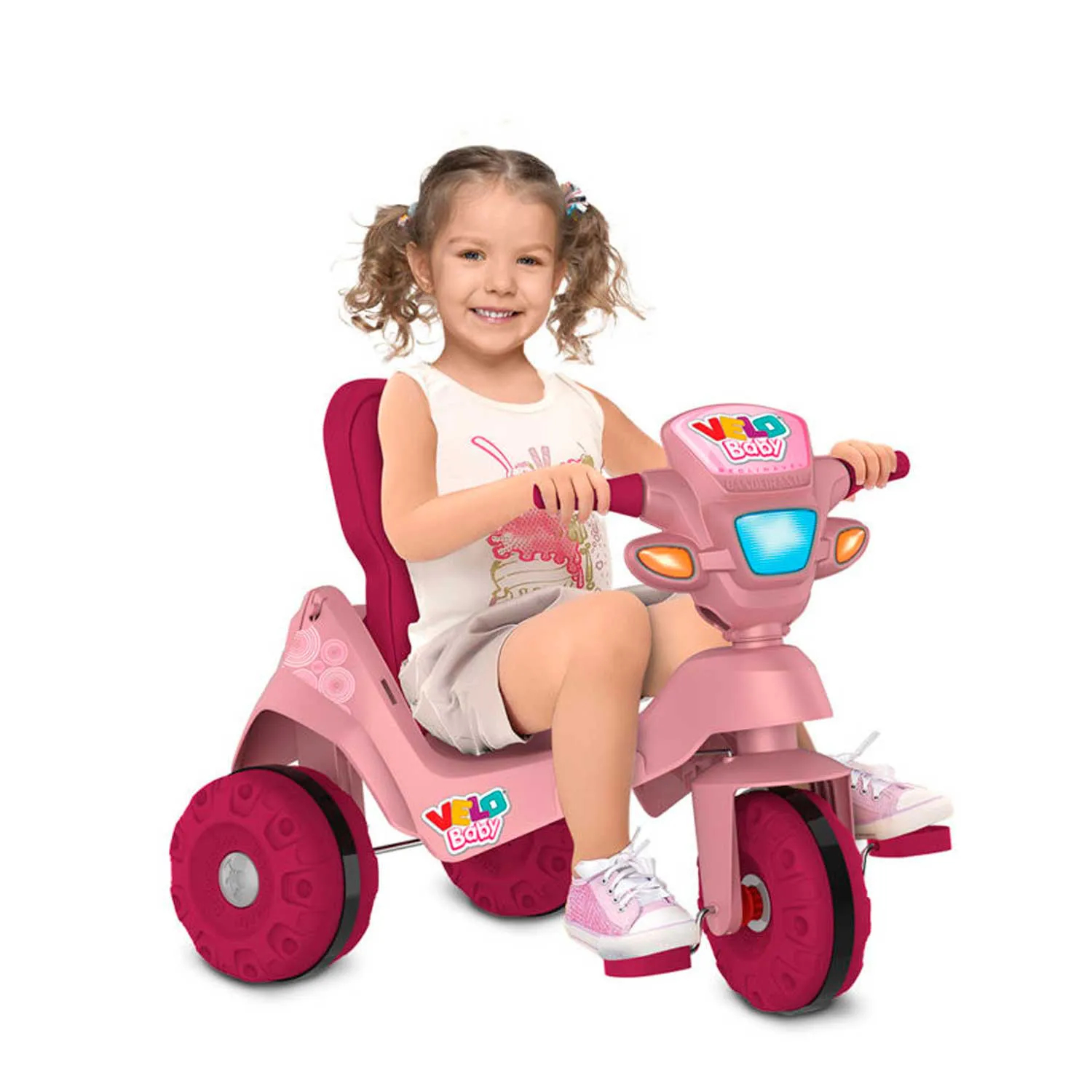 TRICICLO A PEDAL VELOBABY RECLINAVEL PASSEIO BANDEIRANTE REF:213