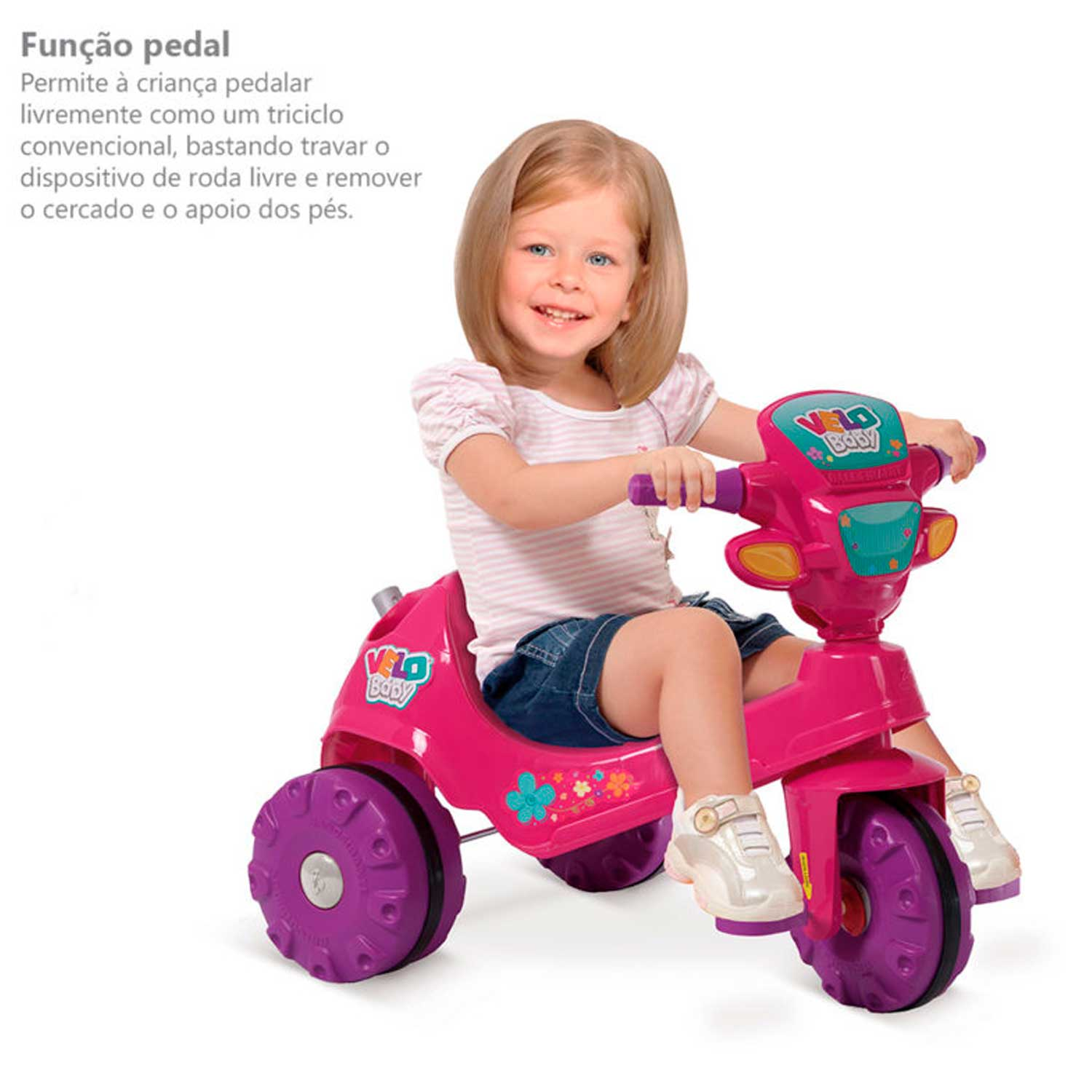 TRICICLO VELOBABY A PEDAL 1A+ BANDEIRANTE REF:207