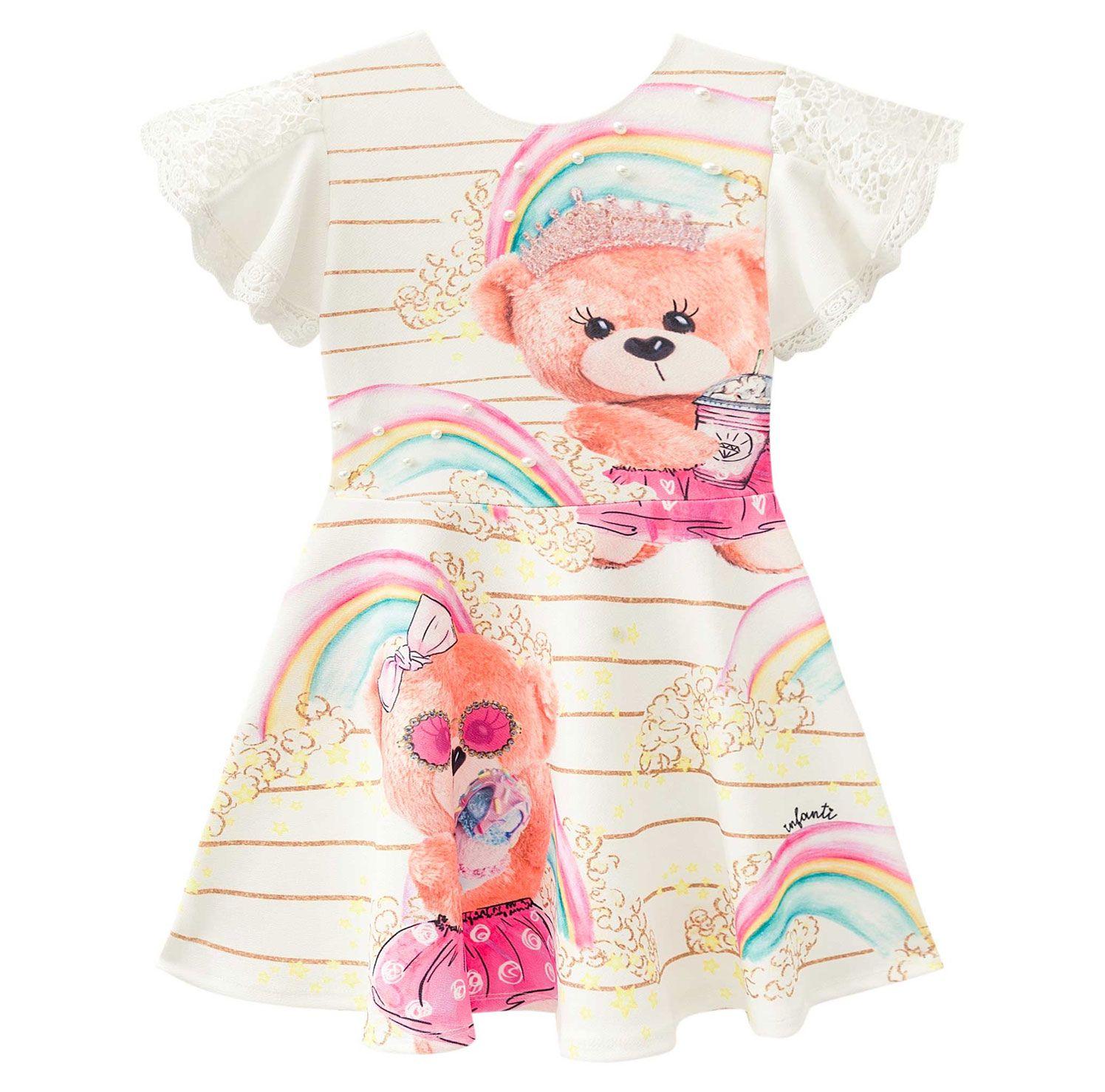 VESTIDO MANGA CURTA INFANTI REF:38854 2/4