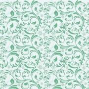 Papel de Parede Arabesco Floral Verde Água PPA0036