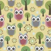 Papel de Parede Autocolante Coruja e Árvore PPI0093