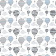 Papel de Parede Balões em Azul com Nuvens PPI0108