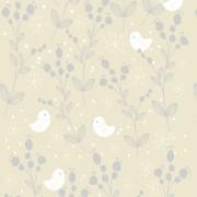 Papel De Parede Delicado Pássaros e Galhos PPI0088