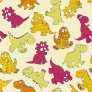 Papel de Parede Dinossauro Desenhados a Mão, Brincalhão e Coloridos PPI0075