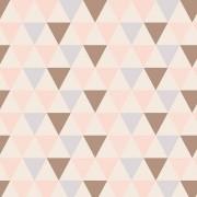 Papel de Parede Geométrico Triangulo Marron - PPG0008