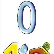 Papel De Parede Números E Bichinhos Coloridos PPI0060