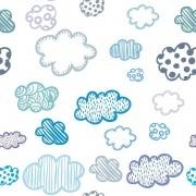 Papel de Parede Nuvens Com Padrões Variados PPI0063