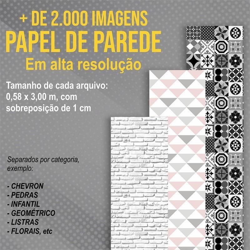 Microfranquia Papel de Parede Home Office  - Papel de parede - G3decora