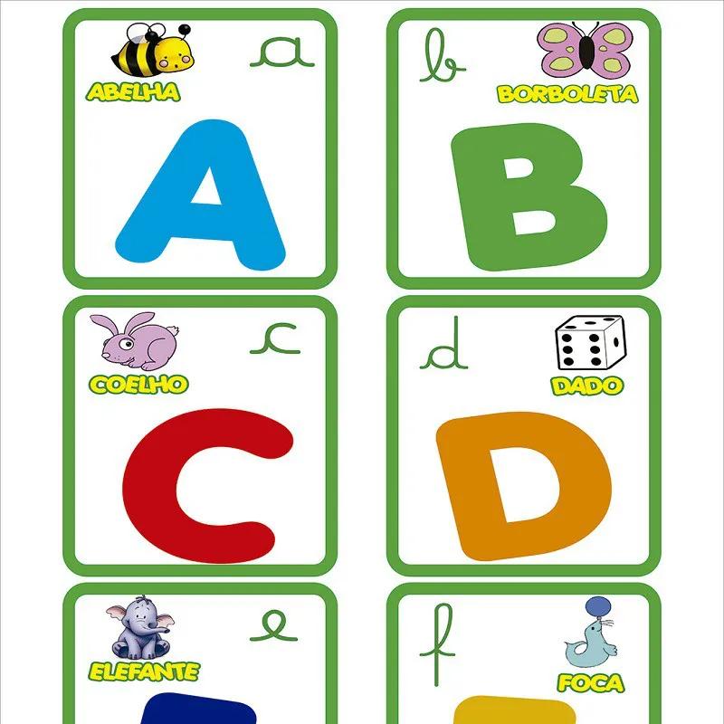 Papel De Parede Alfabeto Com Bichinhos Coloridos PPI0059  - Papel de parede - G3decora