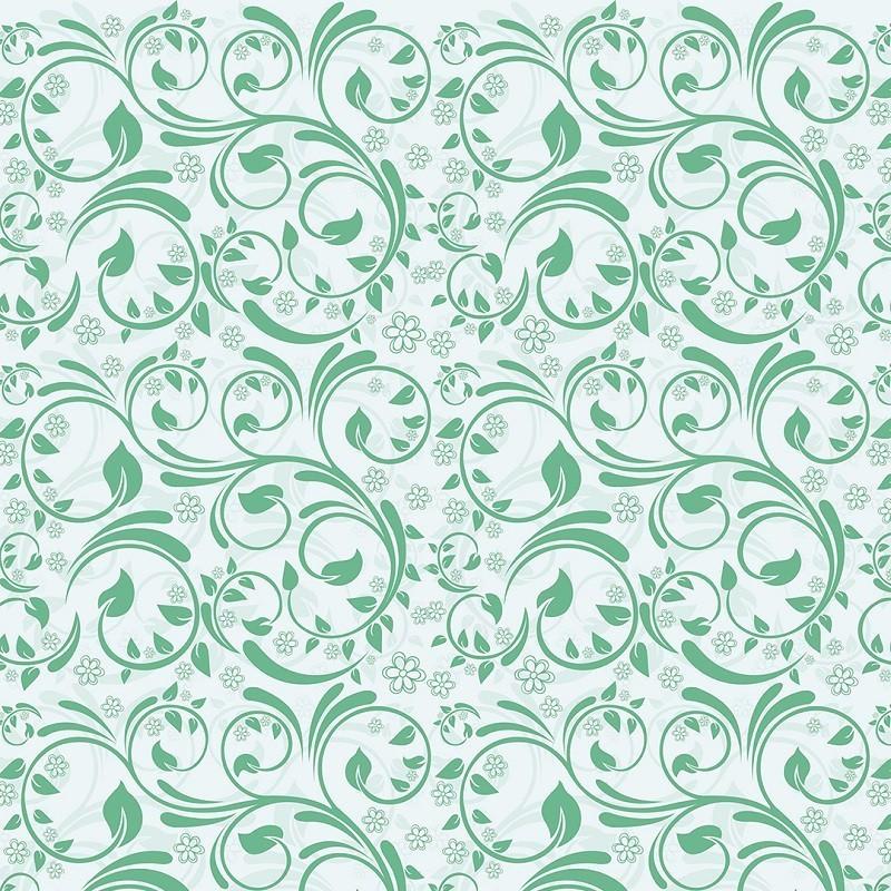Papel de Parede Arabesco Floral Verde Água PPA0036  - Papel de parede - G3decora
