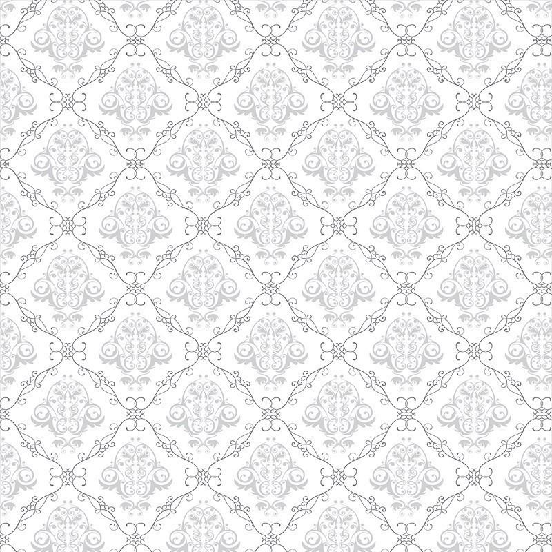 Papel de Parede Arabesco Jacquard Cinza Fino, Contornos Preto sobre Branco  PPA0028  - Papel de parede - G3decora