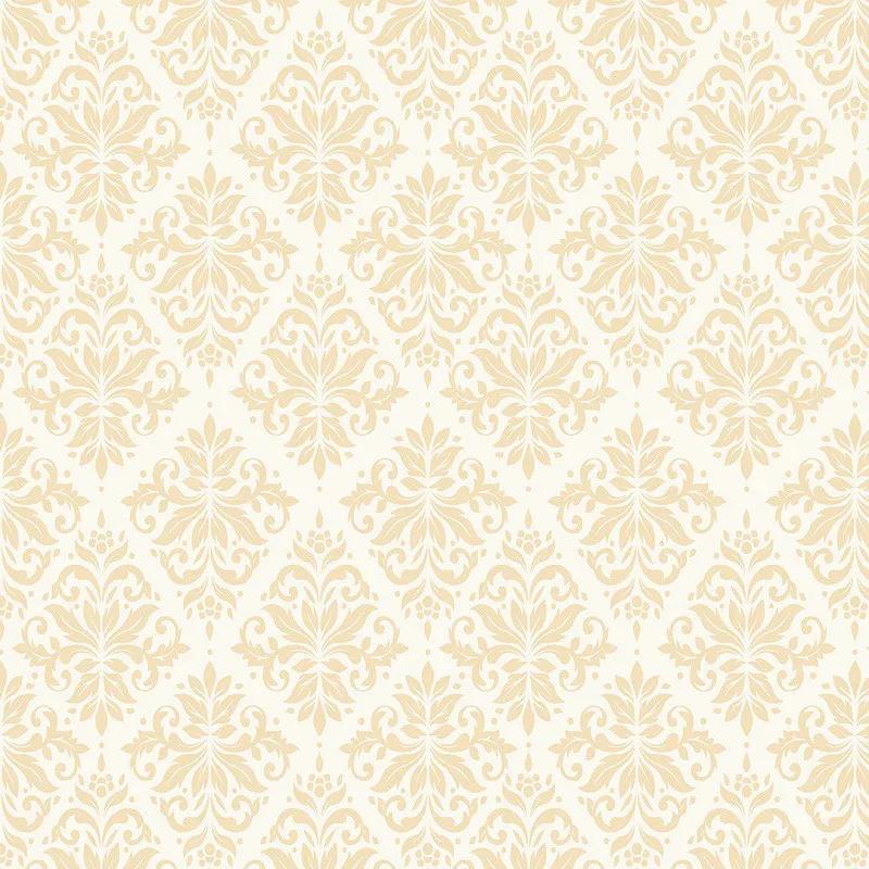 Papel de Parede Arabesco Jacquard Pêssego Sobre Branco PPA0009  - Papel de parede - G3decora