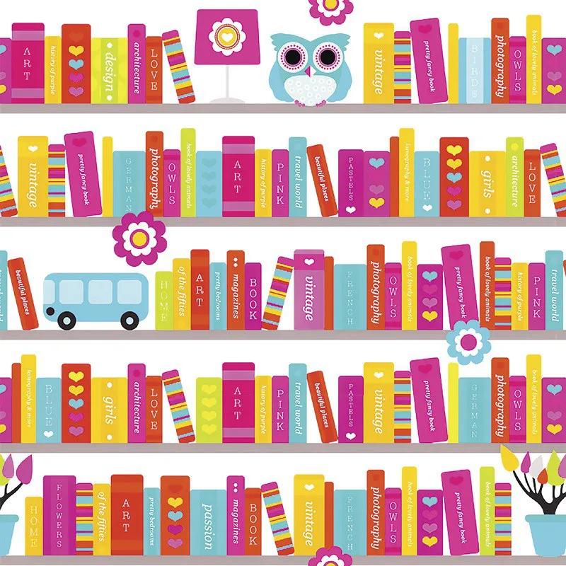 Papel de Parede Autocolante Livro Infantil Com Corujinha PPI0079  - Papel de parede - G3decora