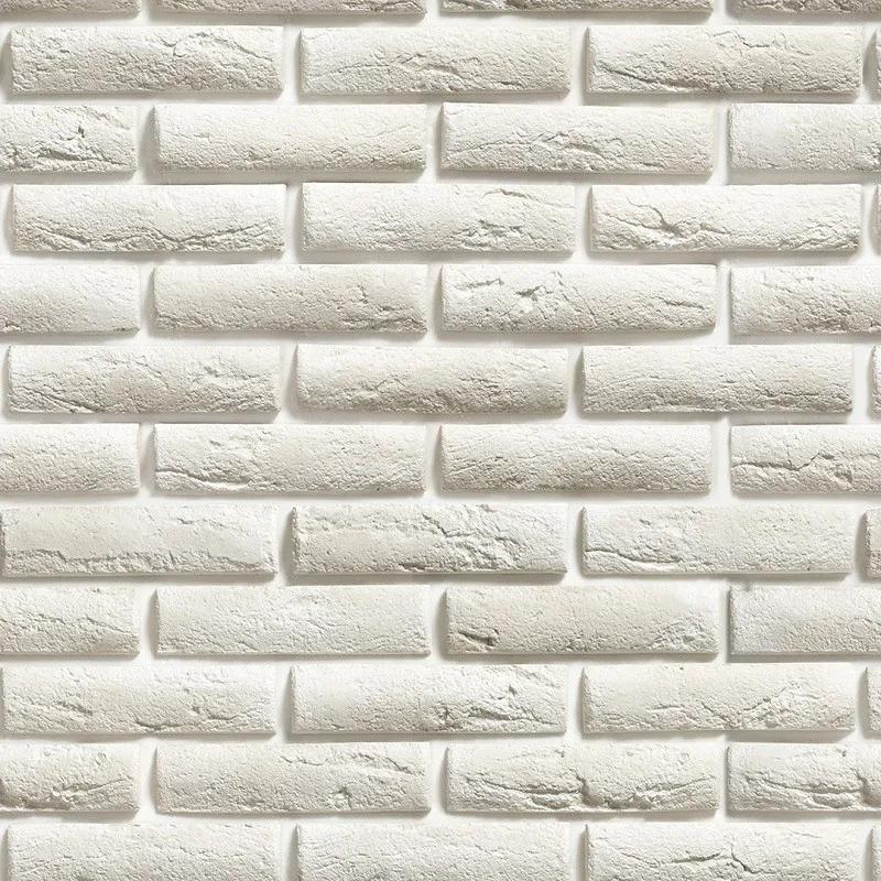 Papel de Parede Autocolante Tijolo Branco Rústico PPT0026  - Papel de parede - G3decora
