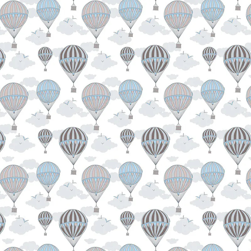 Papel de Parede Balões em Azul com Nuvens PPI0108  - Papel de parede - G3decora