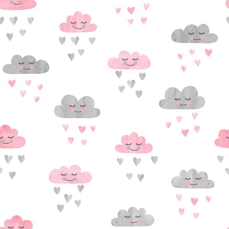 Papel de Parede Bebê infantil Nuvens PPI0128  - Papel de parede - G3decora