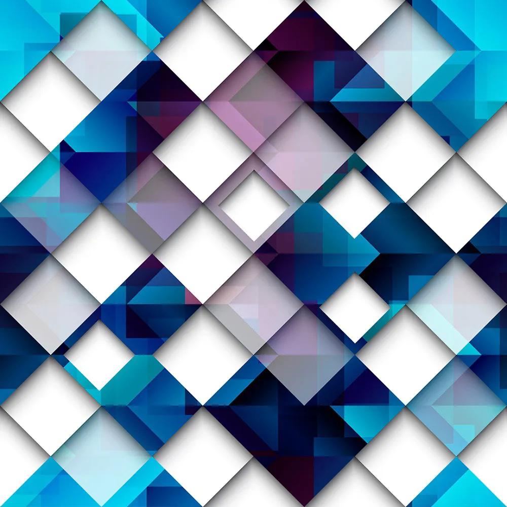 Papel de Parede Formas Geométricas Tons De Azul E Branco - PPG0006  - Papel de parede - G3decora