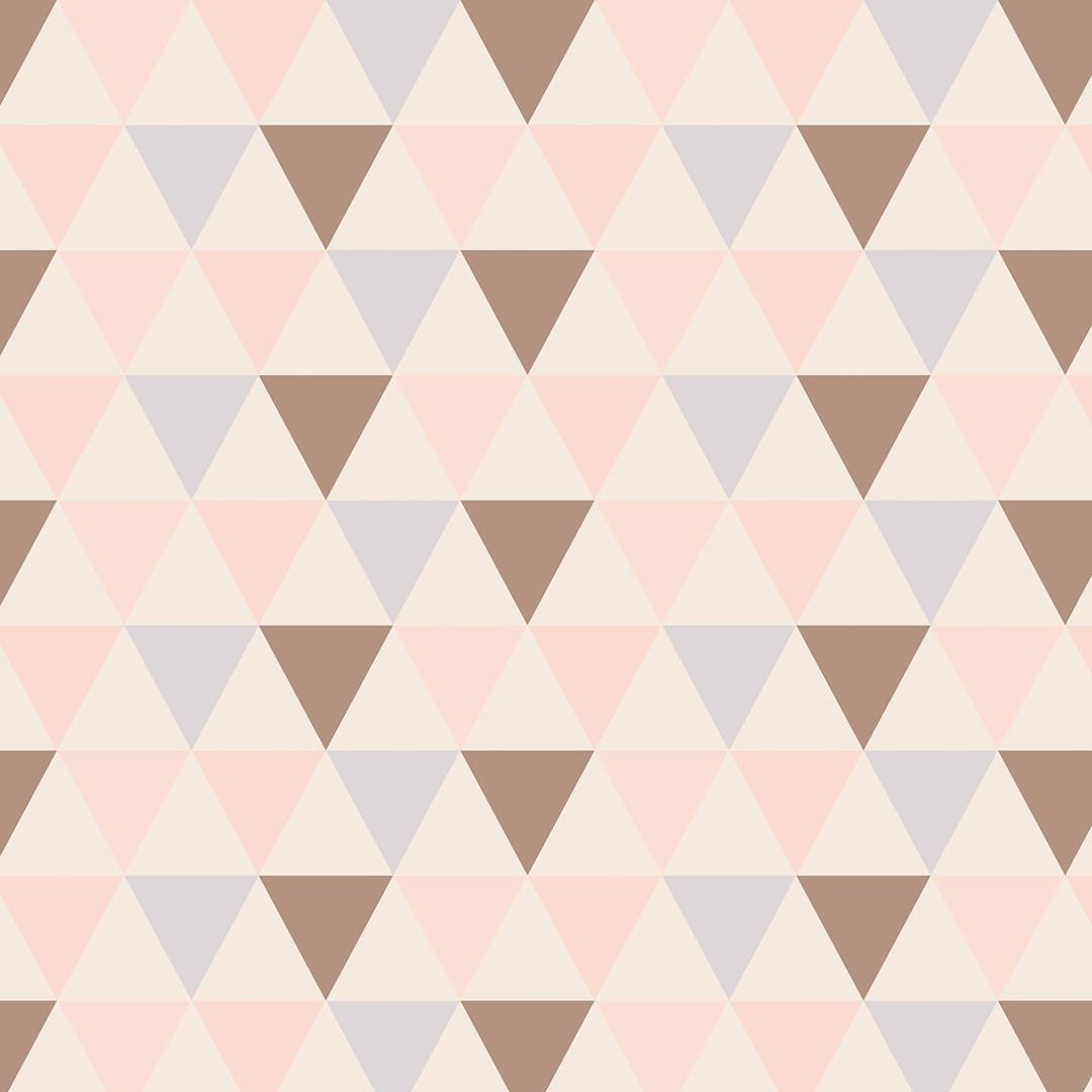 Papel de Parede Geométrico Triangulo Marron - PPG0008  - Papel de parede - G3decora