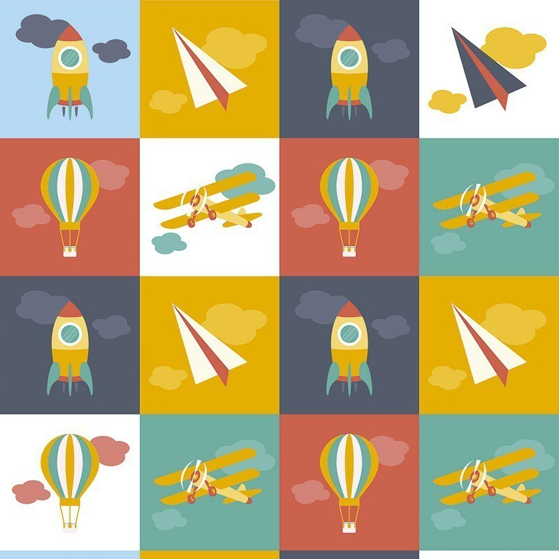 Papel de Parede Máquinas Voadoras PPI0051  - Papel de parede - G3decora