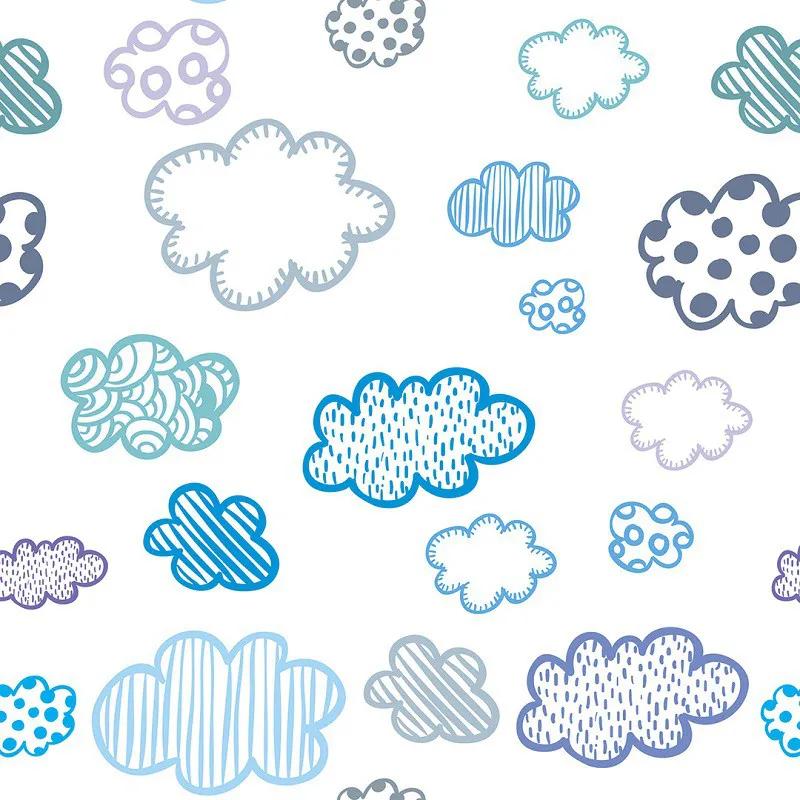 Papel de Parede Nuvens Com Padrões Variados PPI0063  - Papel de parede - G3decora