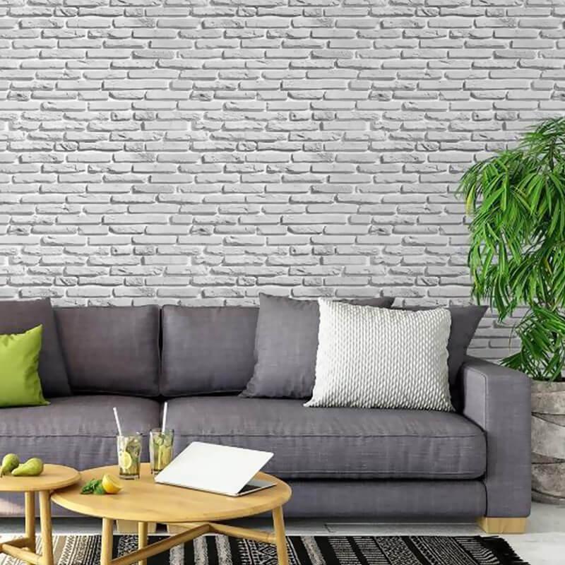 Papel de Parede Tijolo lavável vinílico - PPI0003  - Papel de parede - G3decora