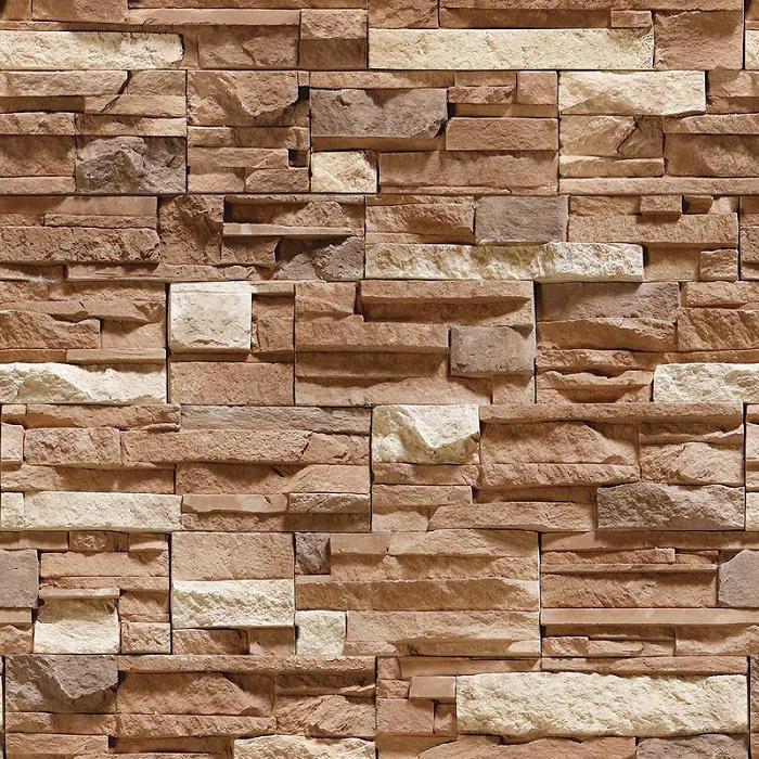 Papel de Parede Tijolo Rústico Marrom PPT0024  - Papel de parede - G3decora