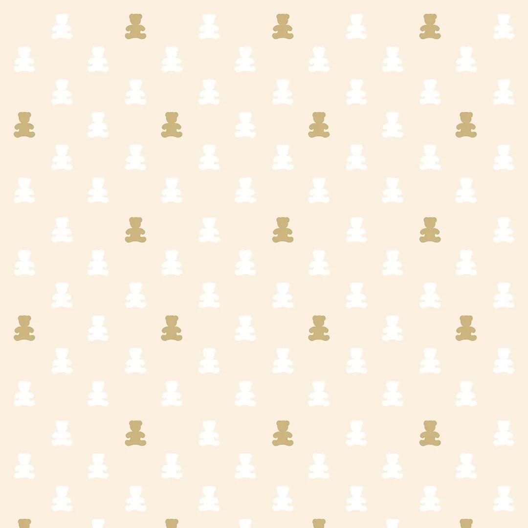 Papel de Parede Ursinhos Delicados em Cores Neutras PPI0099  - Papel de parede - G3decora