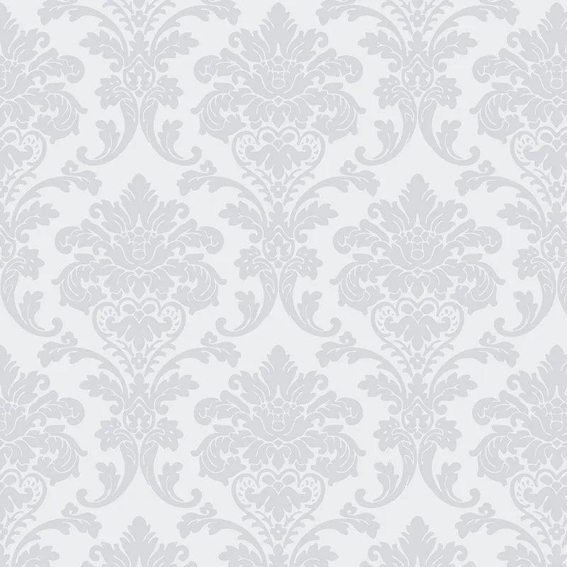 Papel de Parede Vintage Arabesco Damask Sala Quarto Neutro PPA0068  - Papel de parede - G3decora