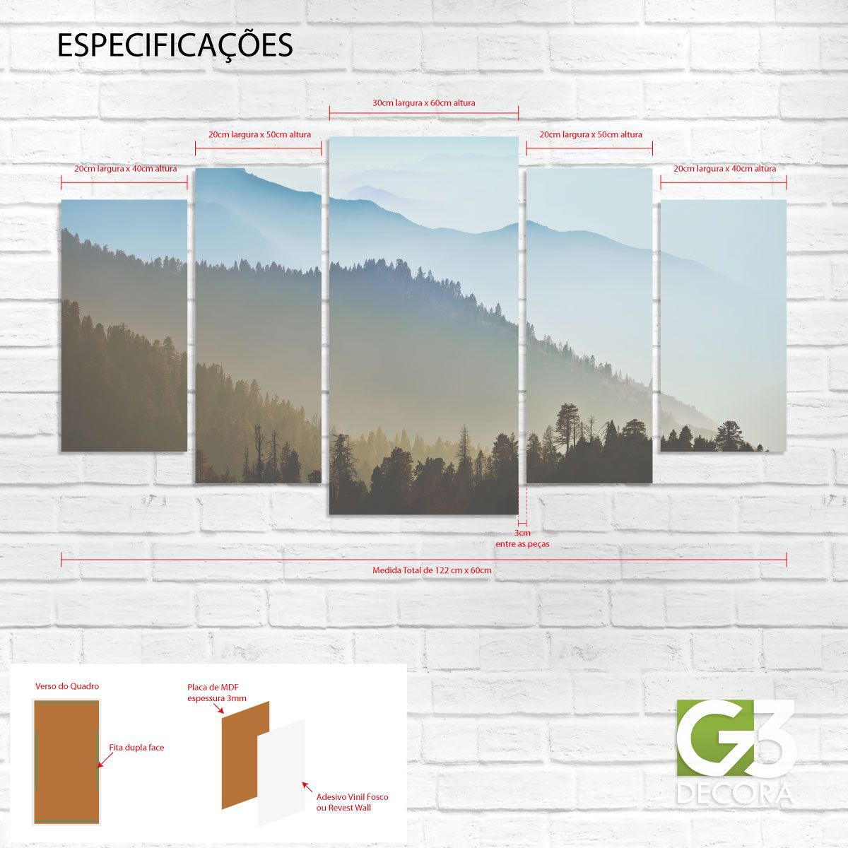 Quadro Decorativo – QD002  - Papel de parede - G3decora