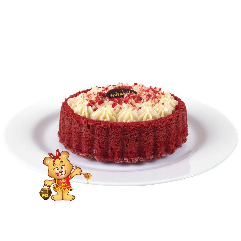 Bolo Caseiro Red Velvet (aproximadamente 650g)  - www.doceriamirabella.com.br