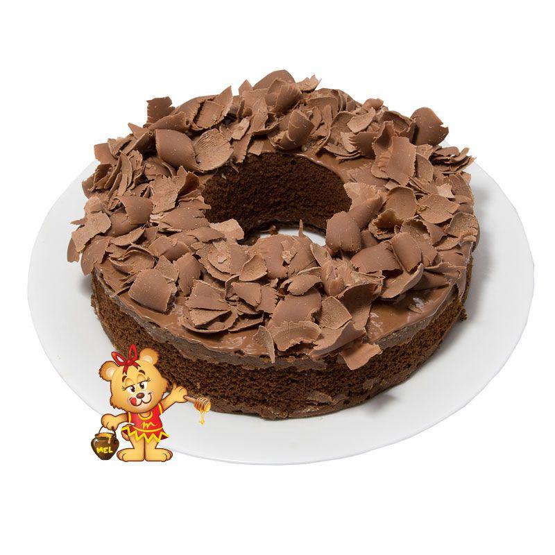 Bolo Caseiro de Chocolate 0% Açúcar  - www.doceriamirabella.com.br
