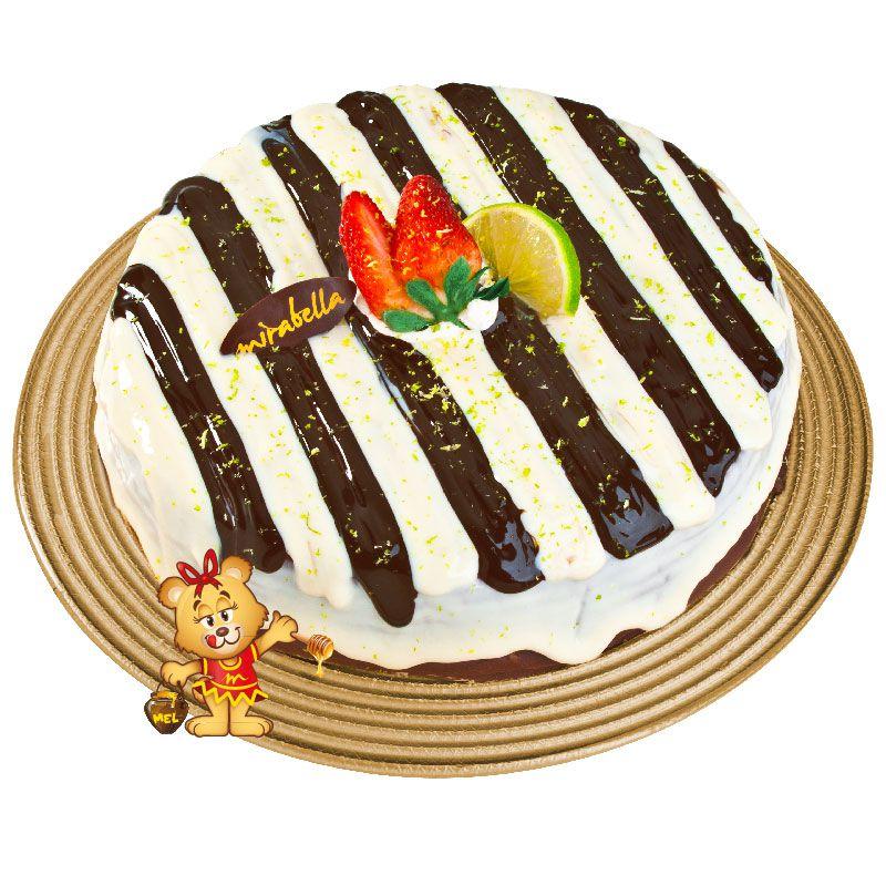 Bolo Mousse de Limão com Chocolate (a partir de 800g)  - www.doceriamirabella.com.br