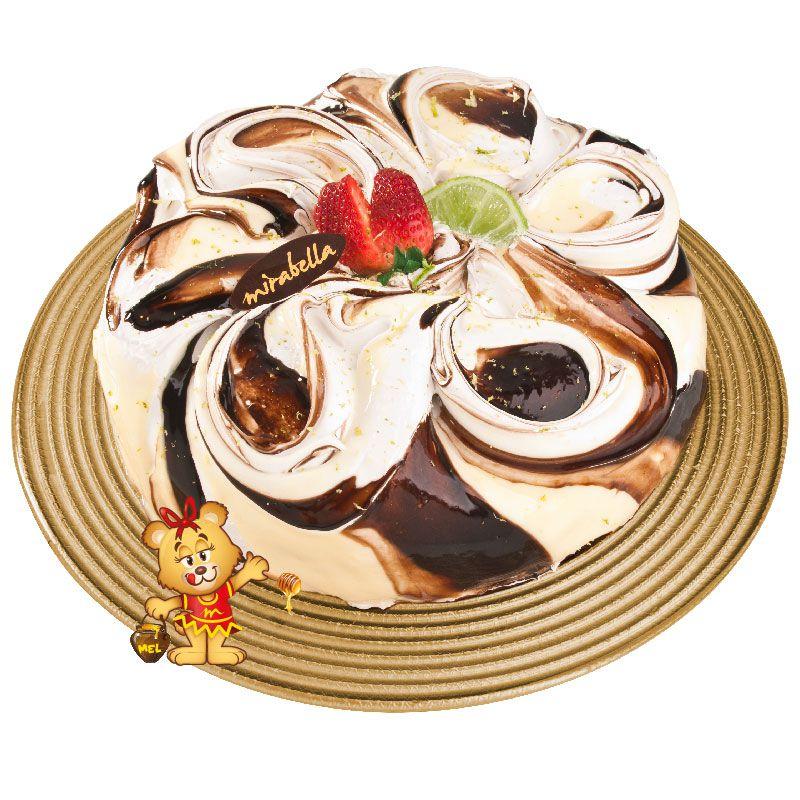 Bolo Mousse de Limão com Chocolate  - www.doceriamirabella.com.br