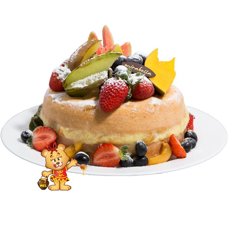 Bolo Naked Cake de Frutas  - www.doceriamirabella.com.br