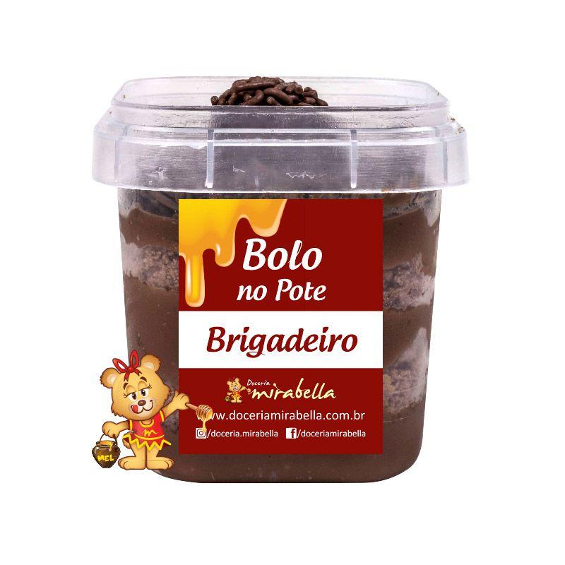 Bolo no Pote - Brigadeiro  - www.doceriamirabella.com.br