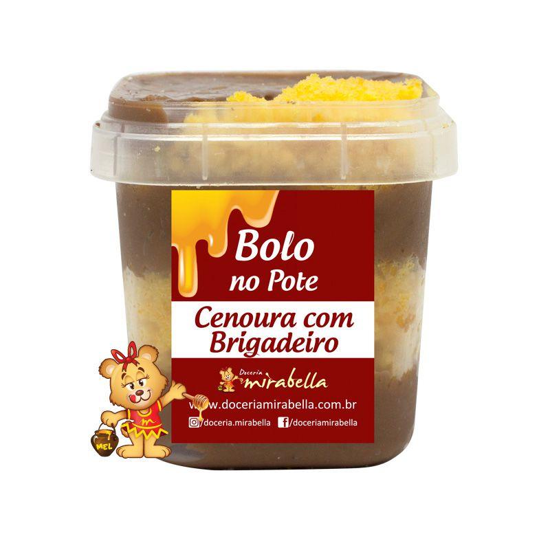 Bolo no Pote - Cenoura com Brigadeiro  - www.doceriamirabella.com.br