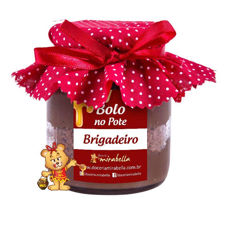 Bolo no Pote de Vidro Brigadeiro  - www.doceriamirabella.com.br