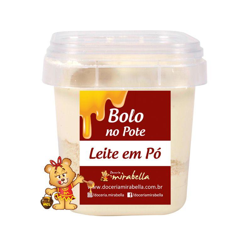 Bolo no Pote - Leite em Pó  - www.doceriamirabella.com.br