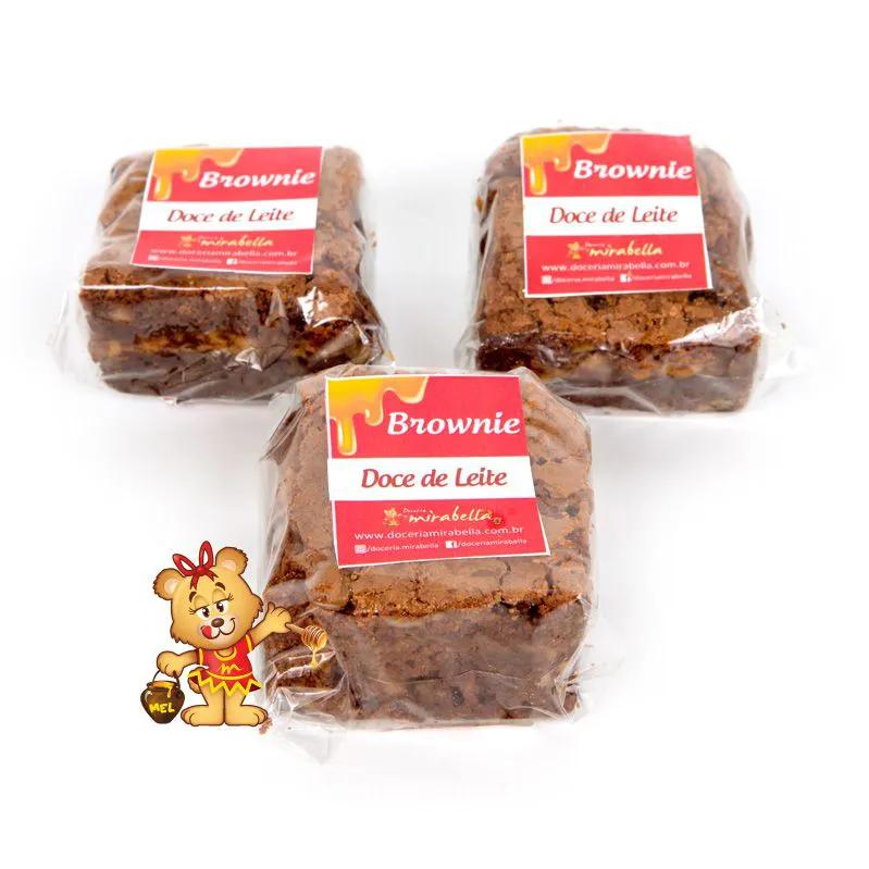 Brownie Embalado - Doce de Leite  - www.doceriamirabella.com.br