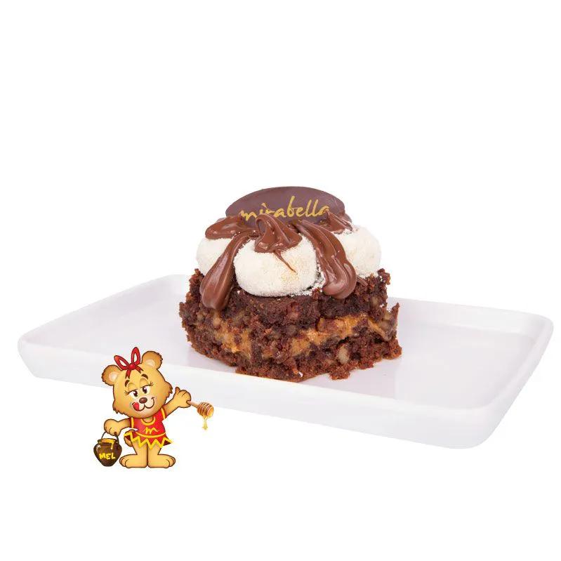 Brownie Ninho com Nutella  - www.doceriamirabella.com.br