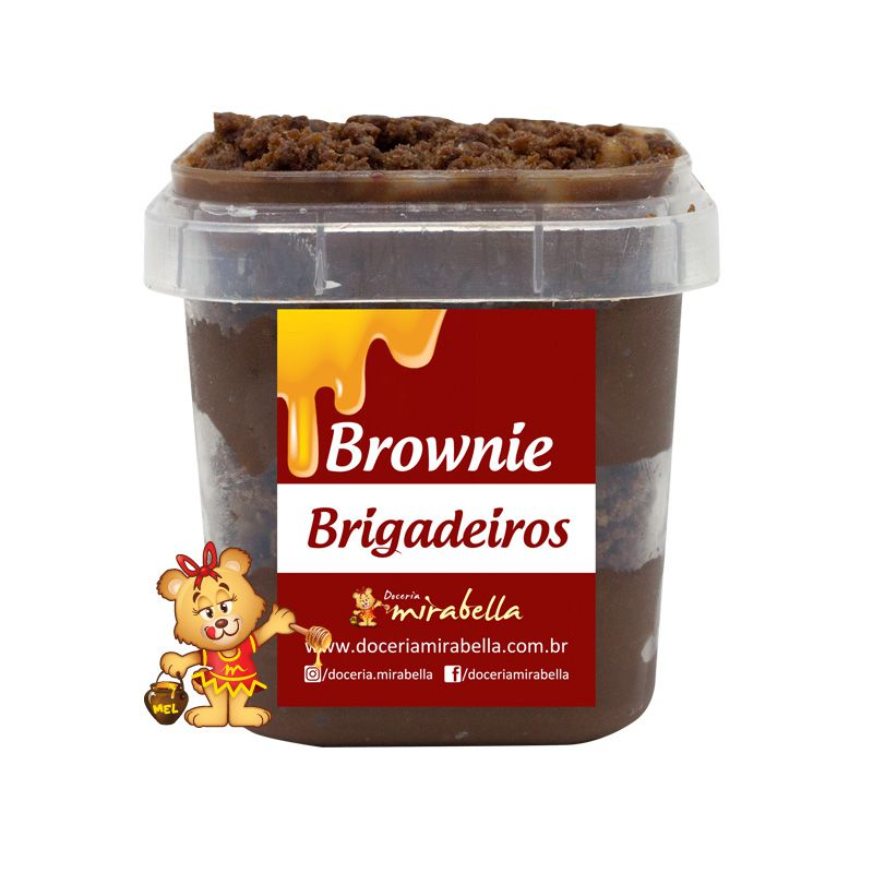 Brownie no Pote - Brigadeiro  - www.doceriamirabella.com.br